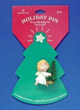 BUY1&GET1@50%~Hallmark PIN Christmas 🎄 MOC ANGEL Bottle BRUSH TREE Vtg Brooch