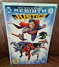 SDCC COMIC CON 2016 DC REBIRTH #1 JUSTICE LEAGUE SIGNED by DARICK ROBERTSON