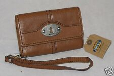 Fossil Leather Marlow Phone Wristlet Chestnut SL3297215 NWT