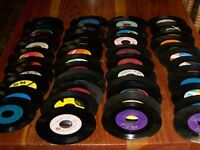 "Lot of 50  45 RPM 7"" Vinyl Records For Decorating & Crafts"