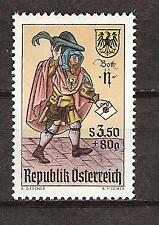 Austria #B 323 Mnh Stamp Day 16th Century Lettercarrier