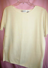 Chaus Short Sleeve Polyester Cotton Sweater Sz. M