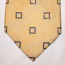 NEW Nautica Silk Neck Tie Yellow with Blue Square Pattern 1306