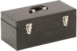 Metal Tool Box Chest Storage Organizer Garage Tray Portable Handle Carrier NEW