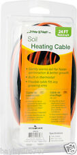 Jump Start Soil Media Heating Cable 24' Built-in thermostat SAVE $$ W/ BAY HYDRO