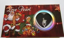 Christmas Love Pearl- Santa Claus Necklace & Pendant- genuine pearl in oyster