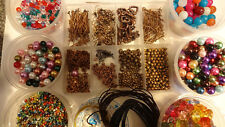 Copper Plated Jewellery Making Large Starter KIT  Storage Box Beads Findings