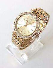 Original Michael Kors Damen Uhr gold Edelstahl Steine rund MK3191 Neu OVP