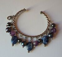 Carolyn pollack Sterling Silver And Gemstone Bracelet. Signed and stamped 925