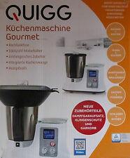 Quigg Küchenmaschine Gourmet mit Dampfgaraufsatz Klingenschutz & Garkorb / NEU!