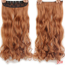 "24"" One Piece Clip In Hair Extensions Synthetic Full Head Thick Wavy/Curly Hair"