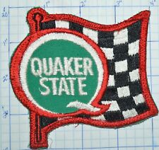 QUAKER STATE MOTOR OIL RACING FLAG NASCAR PATCH