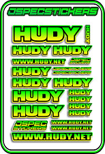 HUDY TOOLS SETUP STICKERS XRAY RC BUGGY CAR DECAL 1/10 1/8 JSPEC ELEC YEL GRE B