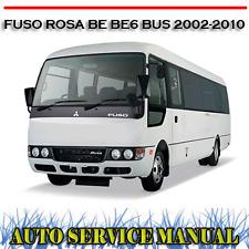 MITSUBISHI FUSO ROSA BE BE6 BUS 2002-2010 WORKSHOP SERVICE REPAIR MANUAL ~ DVD