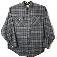 Northwest Territory Mens Button Down Shirt Long Sleeve Blue Plaid Sz XL