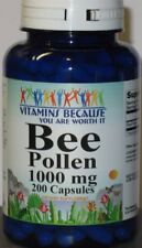 Bee Pollen 1000mg  200 capsules High Quality, Fresh,  Made in USA
