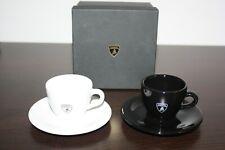 Original Lamborghini Espressotassen Tassen Set Schwarz & Weiß Cups Box Ferrari