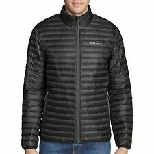 Eddie Bauer NWT Size Small Men's Microlight Premium Down Traveler Jacket Black