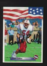 1992 AW Sports #53 Todd Collins AUTOGRAPH rookie card, New England Patriots