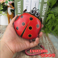 Handmade ladybug coin purse cute genuine leather purse leisure coin change bag