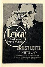 Ernst Leitz Wetzlar Leica Das kleine Photo- Wunder Klassische Annonce von 1929