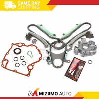 Timing Chain Kit w/o Gears Oil Pump Cover Gasket Fit 99-08 Dodge Jeep Chrysler