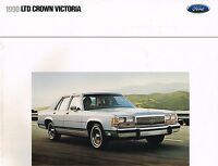 1990 Ford LTD CROWN VICTORIA Brochure / Catalog: LX, COUNTRY SQUIRE Wagon, NOS