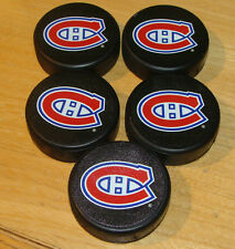 NHL Hockey Mini Puck Charm Set of 5 Five Sherwood Montreal Canadiens Plastic New