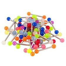Lot of 20 Mixed GLOW-IN-THE-DARK  Barbells  - U.S. Seller 14G 5/8""