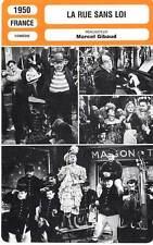 FICHE CINEMA : LA RUE SANS LOI - Gabriello,De Funès 1950 Street Without A King