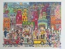 "James Rizzi: original Lithografie ""EAT AT PORKEY'S"", kein 3D, Looney Tunes, top"