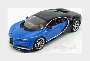 Bugatti Chiron Le Patron 2016 Atlantic Blue BURAGO 1:18 BU11040BL Miniature