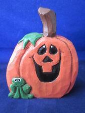 Eddie Walker Halloween Pumpkin Jack O Lantern & Frog Midwest Sticker ~ Cracked