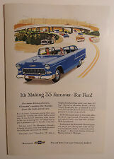 1955 Chevy Ad with 1955 Chevy Police Car- Must See !!
