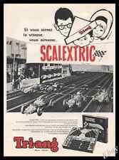 1962 TRI-ANG SCALEXTRIC Racetrack  TOYS RACING  Original Advert print ad - Z1