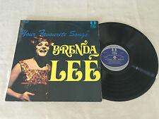 BRENDA LEE YOUR FAVOURITE SONGS 1972 MFP AUSTRALIAN RELEASE LP