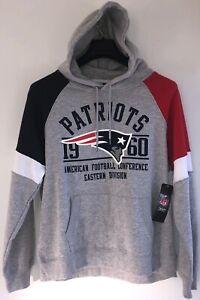 New England Patriots NFL Apparel Hooded Sweatshirt NWT Women's L Gray