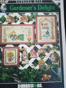 cross stitch pattern  book gardeners delight barbara mock