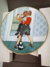 """""""The Muscleman"""" Norman Rockwell Coming of Age Collection Plate"""