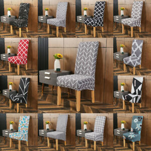 Home Chair Cover Stretch Elastic Slipcovers for Dining Room Banquet Party Decors
