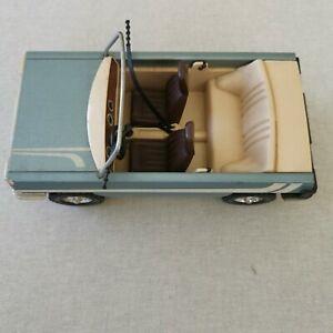 Vintage 1970s Lundby dolls house sweden metallic blue Family Car