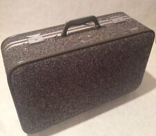 "Vintage Amelia Earhart Gray Tweed Hard case Rolling Luggage  20"" x 12"" x6.5""D"