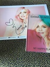 EMMA BUNTON - MY HAPPY PLACE - DELUXE CD + HAND SIGNED PRINT photo - spice girls