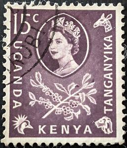 Stamp Kenya,Uganda, Tanganyika SG185 1960 15c Coffee Used