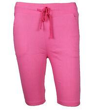 Ladies Knee 1/2 Length Shorts Slim Fit Trouser Coloured Stretch Pants Leggings