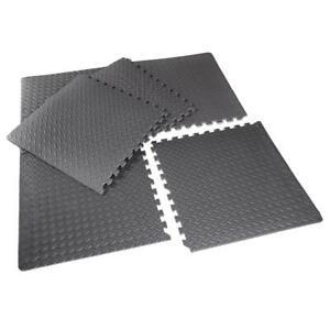 "Gym Mat Interlocking Puzzle Exercise Gym Flooring 1/2"" Thick EVA Foam 6 Pieces"