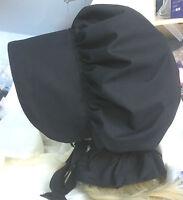 victorian edwardian adult baby fancy dress black bonnet cap hat white sissy maid