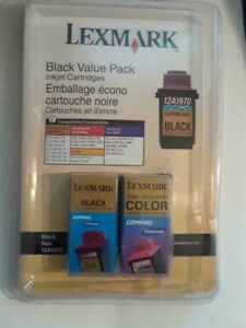 12A1980 and 12A1970 Genuine Lexmark Color and Black Ink Cartridge Set Open Box