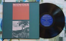 Songs and Dances of Puerto Rico LP Folkways VG++/VG+