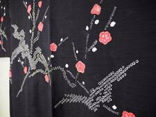 @@Japanese silk haori kimono/Hitokoshi crepe/shibori tie-dyeing/ume plum D4288